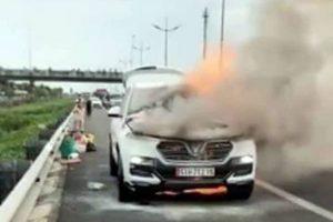 TP Hồ Chí Minh: Cháy ôtô 7 chỗ trên cao tốc TP.HCM – Trung Lương