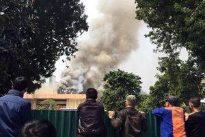 Hà Nội: Điều tra nguyên nhân cháy trường mầm non Trường Yên