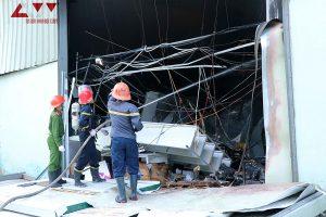 Bắc Ninh: Cháy lớn tại Cụm CN Khắc Niệm, ba công nhân bị thương